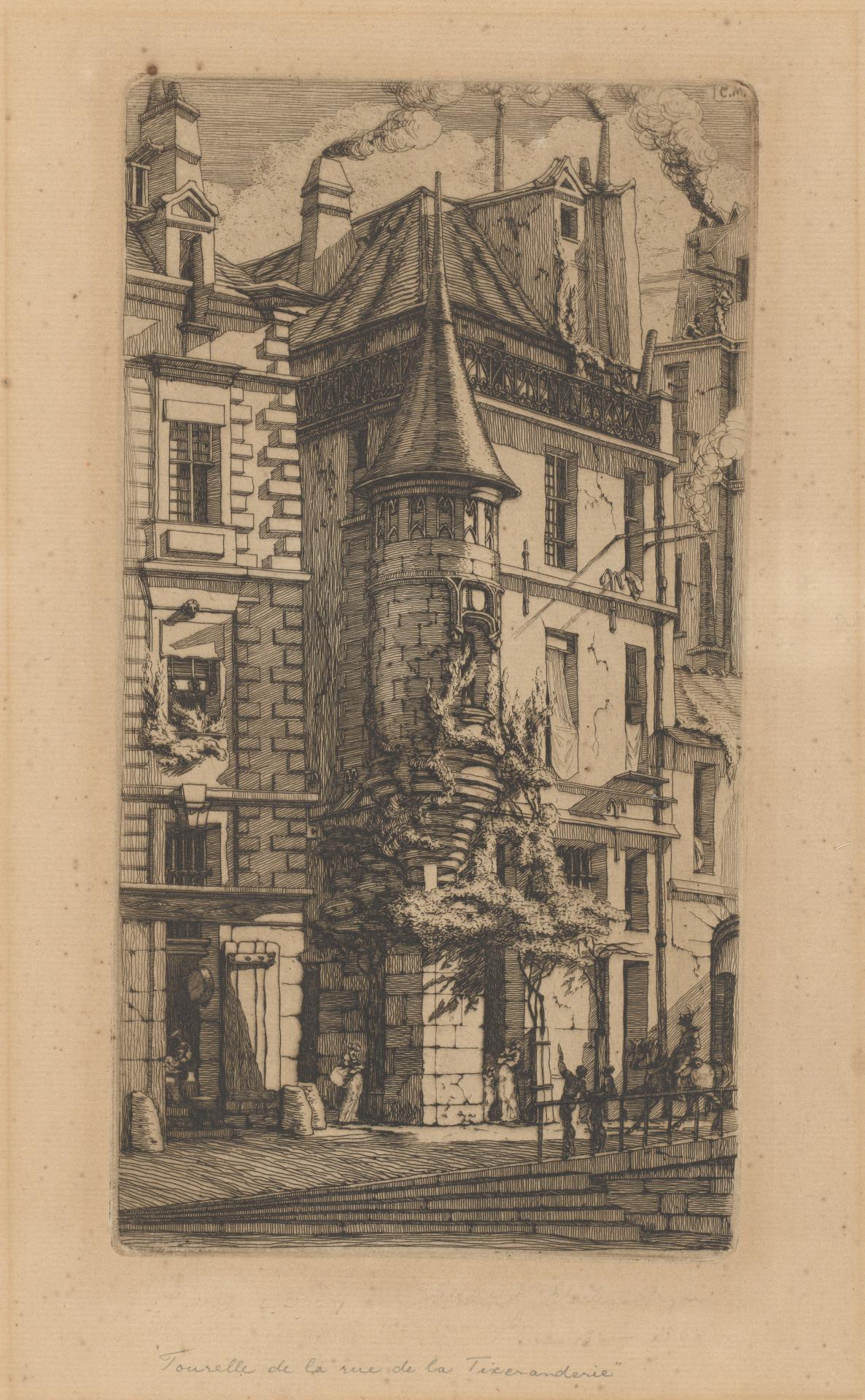 House with a Turret, Weaver's Street, Paris