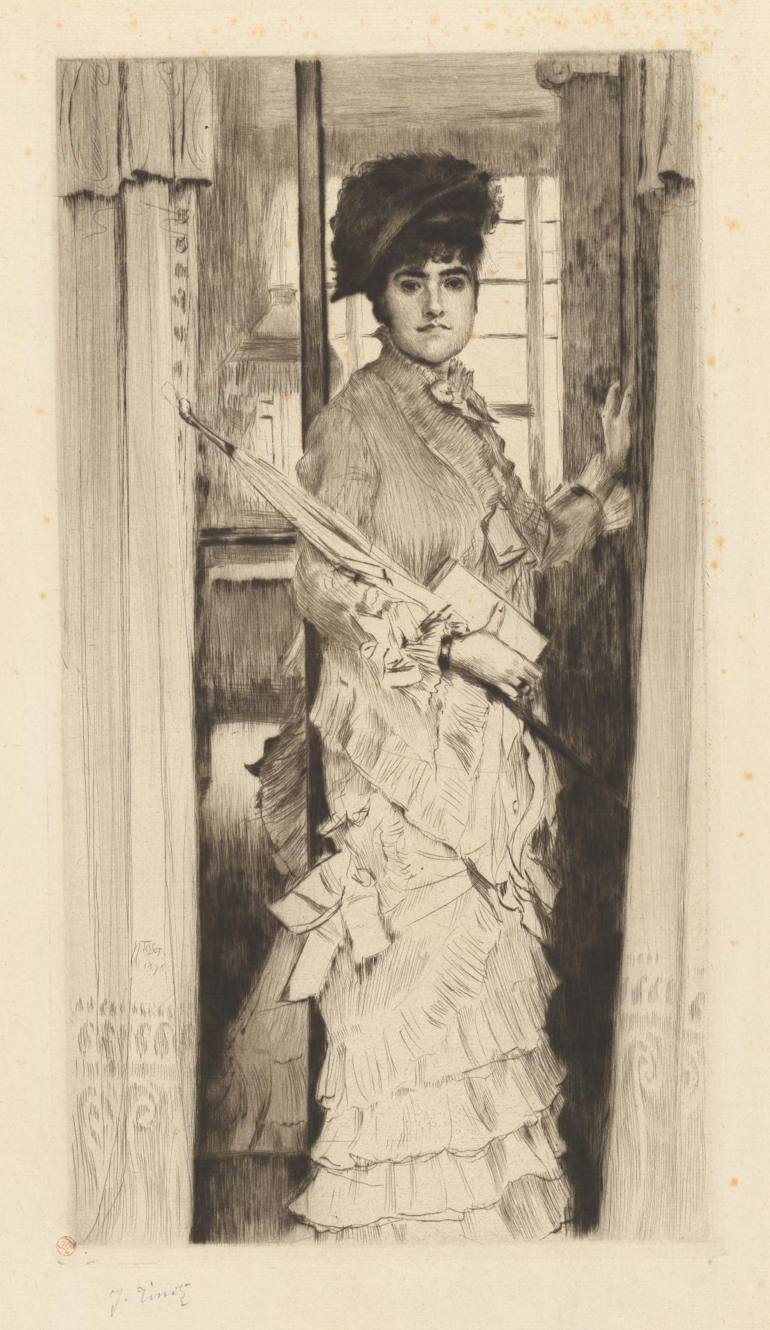 Portrait of Miss L..., or A door must be either open or shut