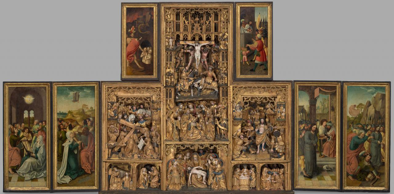Carved retable of the Passion of Christ