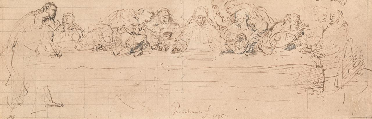 The Last Supper(from the pen drawing in the Print Room, Berlin)