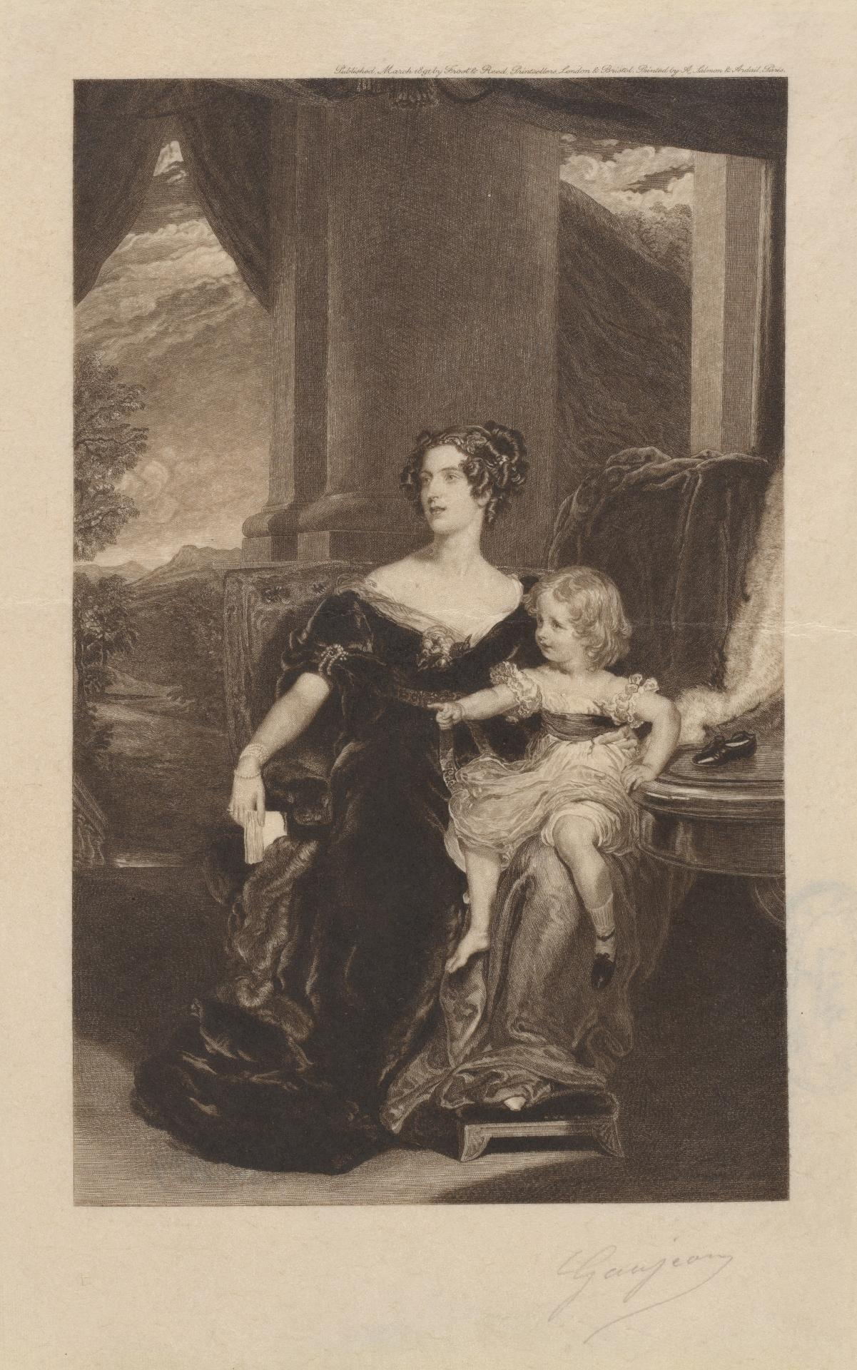 The Countess Gower and the Lady Elizabeth Leveson Gower