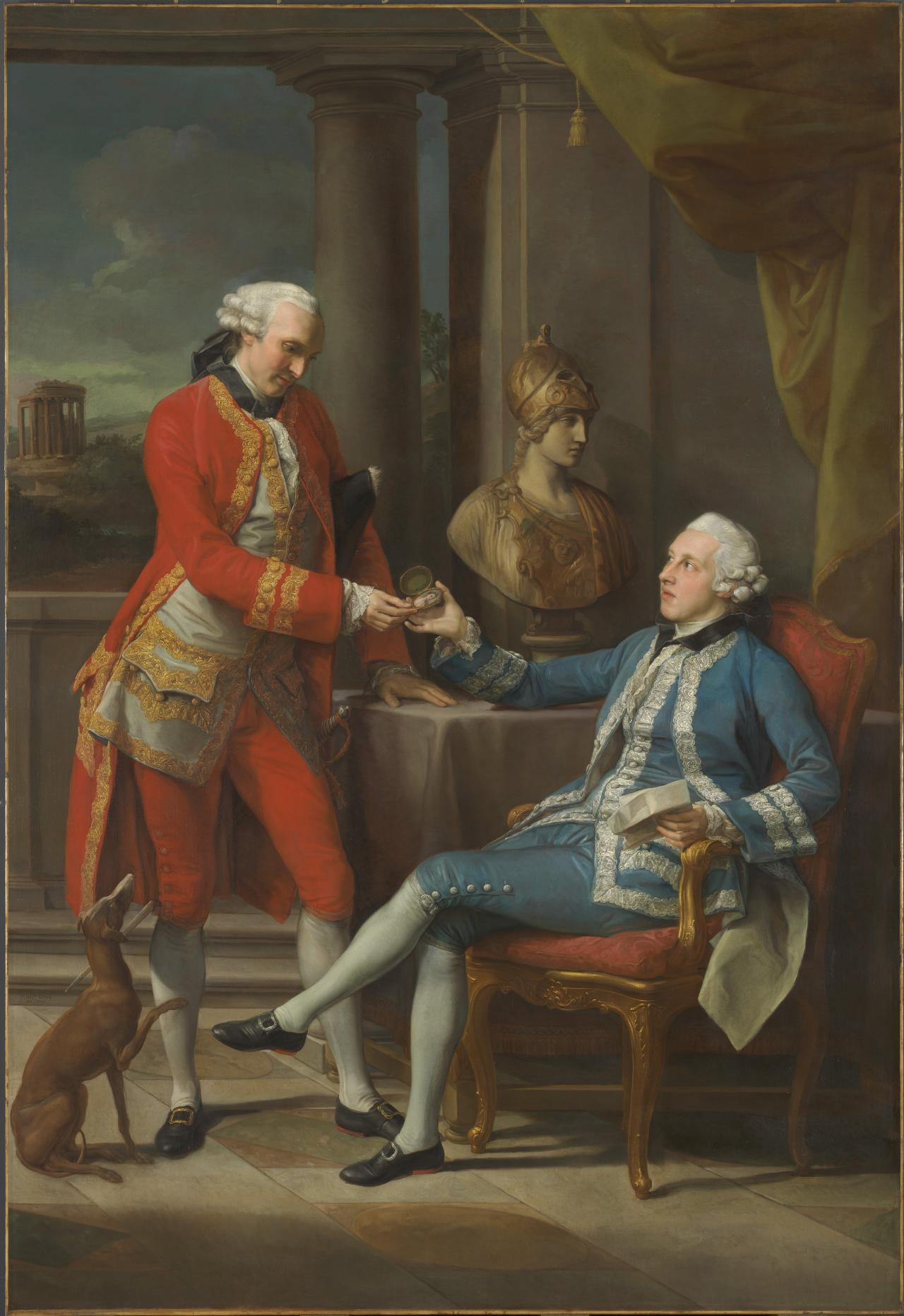 Sir Sampson Gideon and an unidentified companion