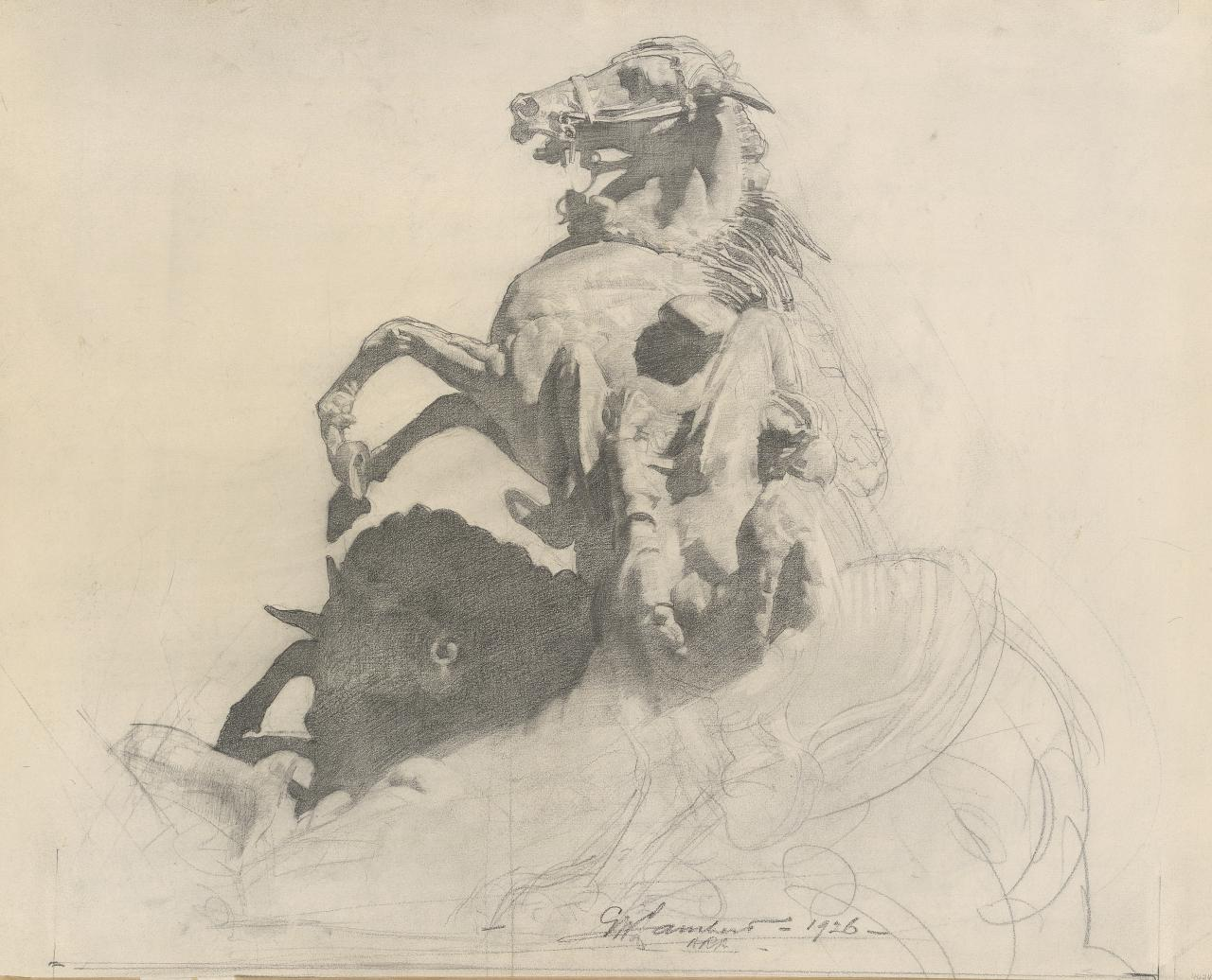 Study for the Desert Mounted Corps Memorial