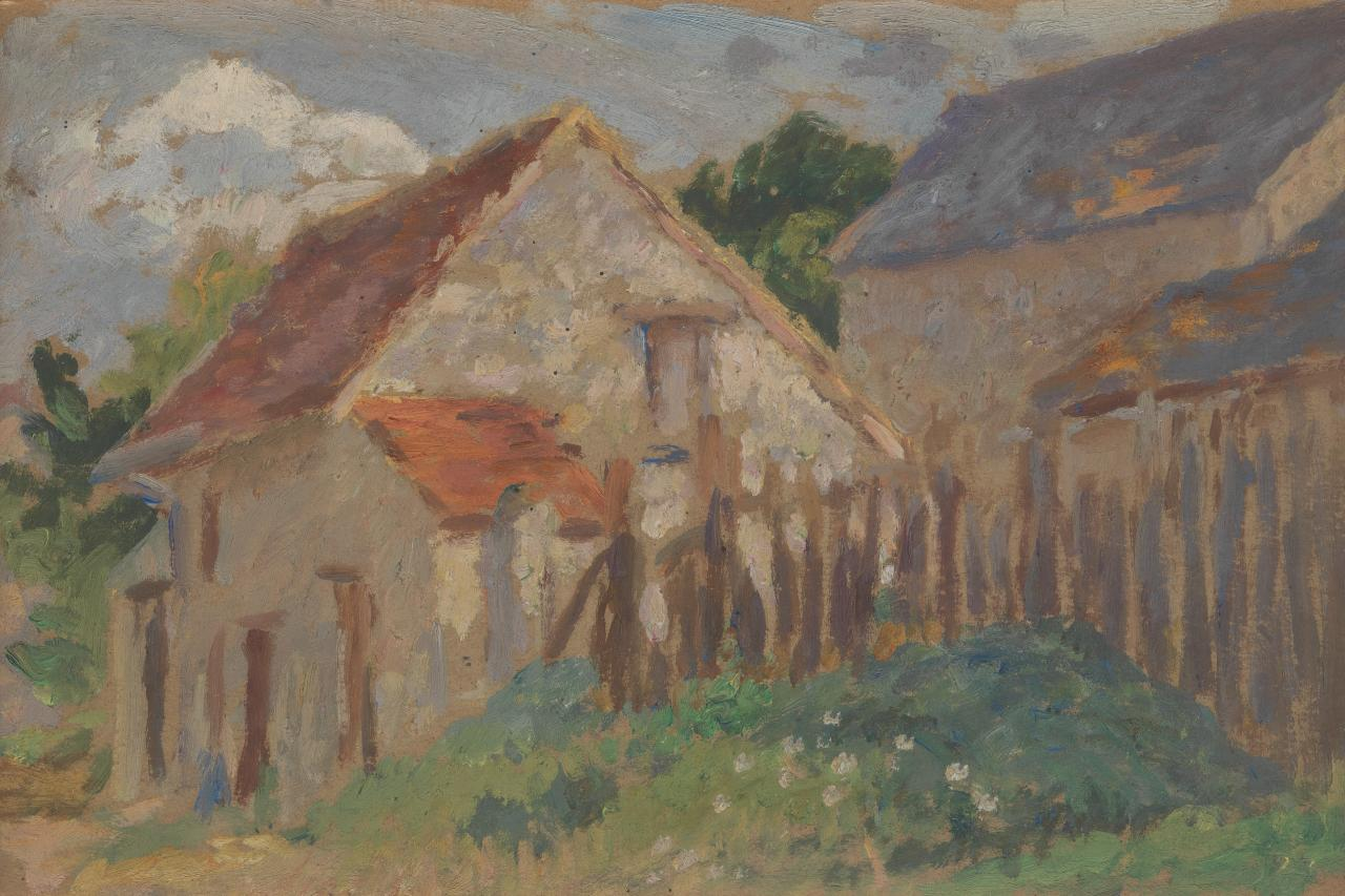 (Farm buildings, Les Landes)