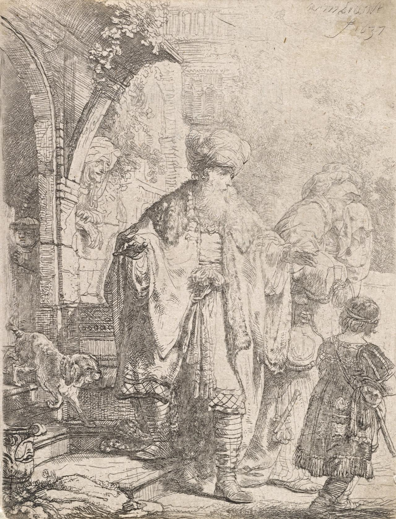 Abraham Casting out Hagar and Ishmael