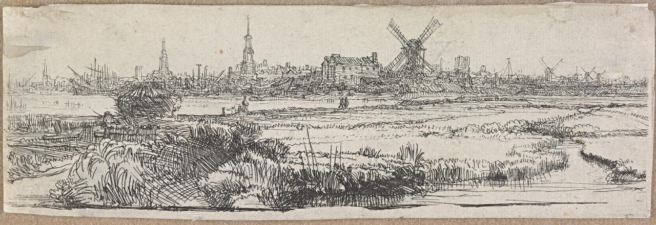 View of Amsterdam from the north west: a fragment