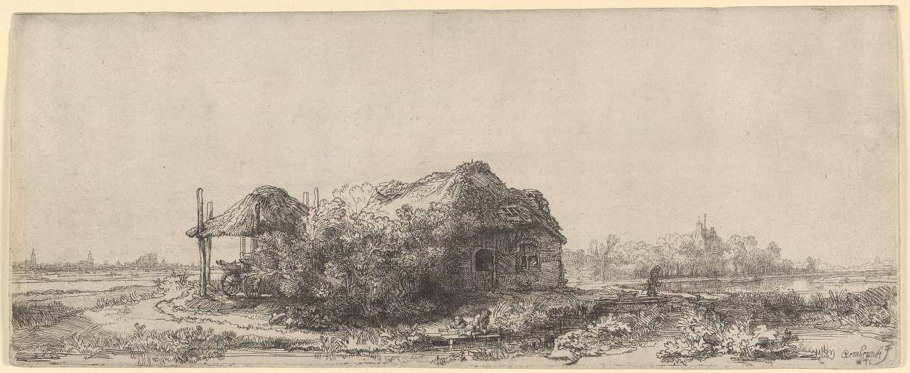 Landscape with a Cottage and Hay Barn