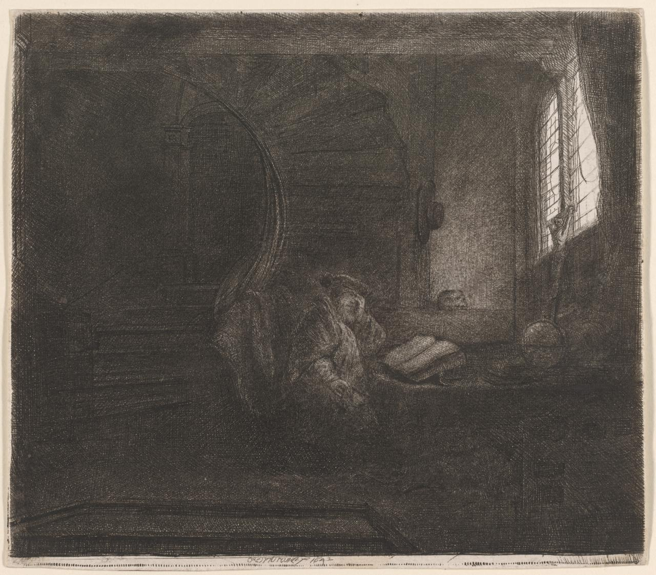 St Jerome in a Dark Chamber