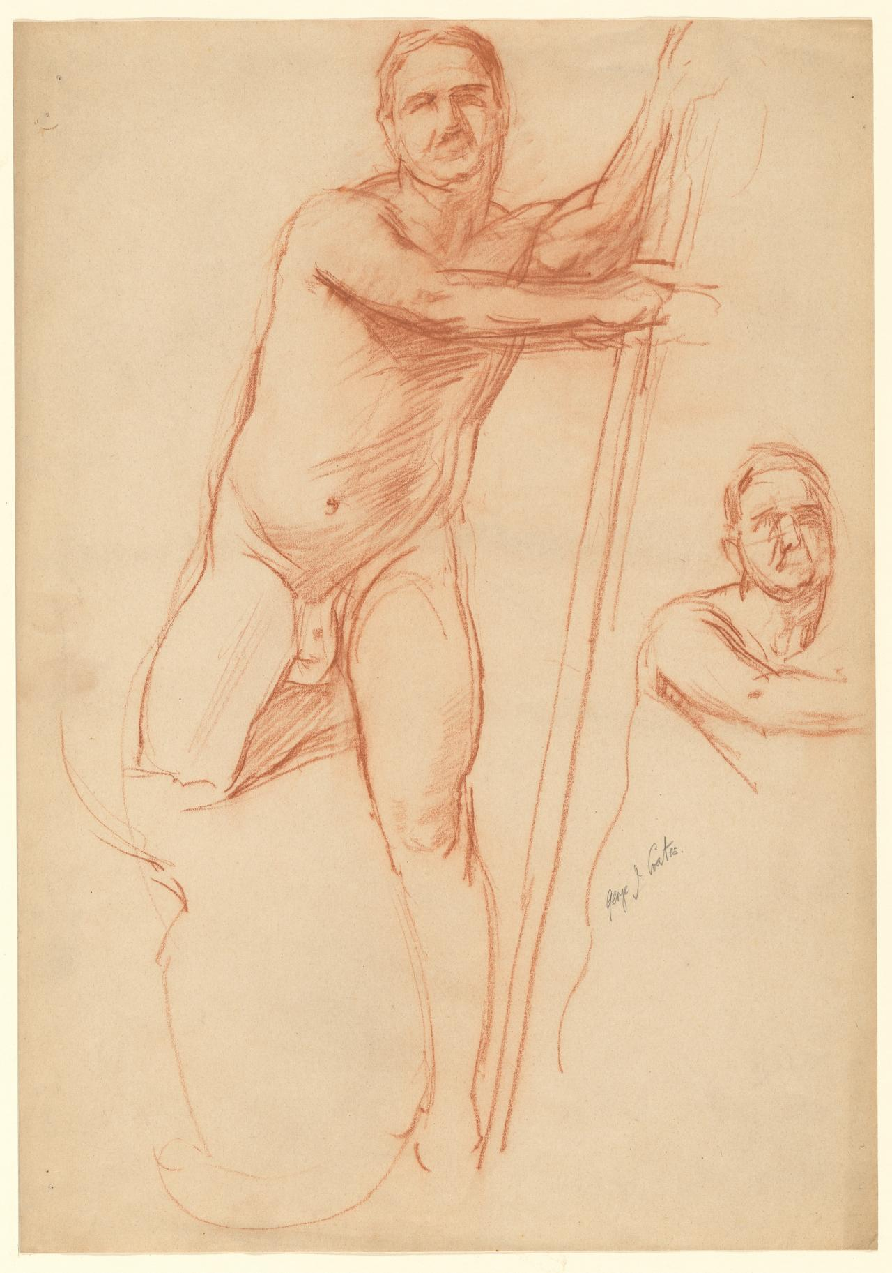 Two studies of a nude man