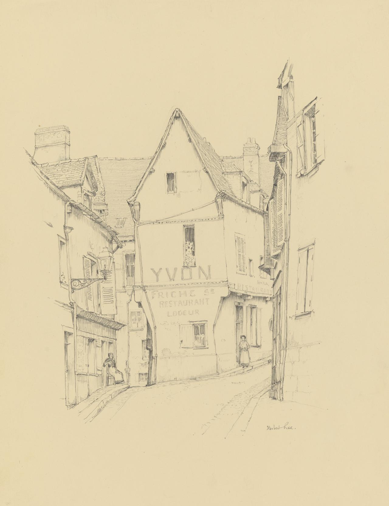 Village street, Chartres