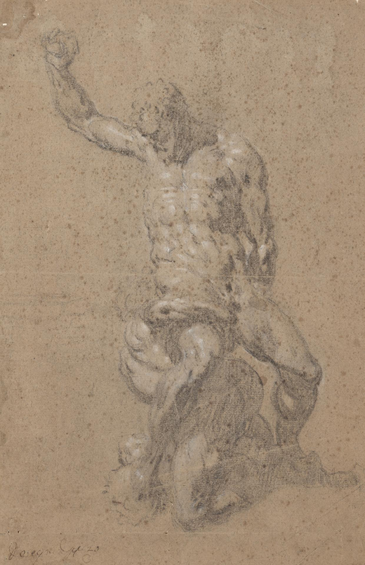 Drawing after a cast of Michelangelo's sculpture Samson and the Philistine