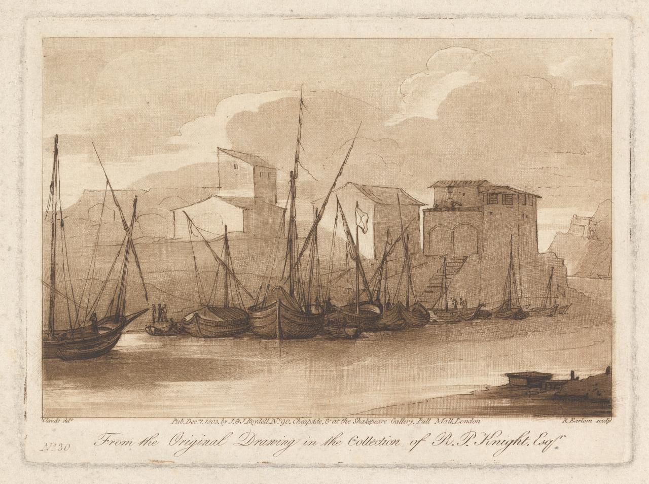 A Seaport with vessels