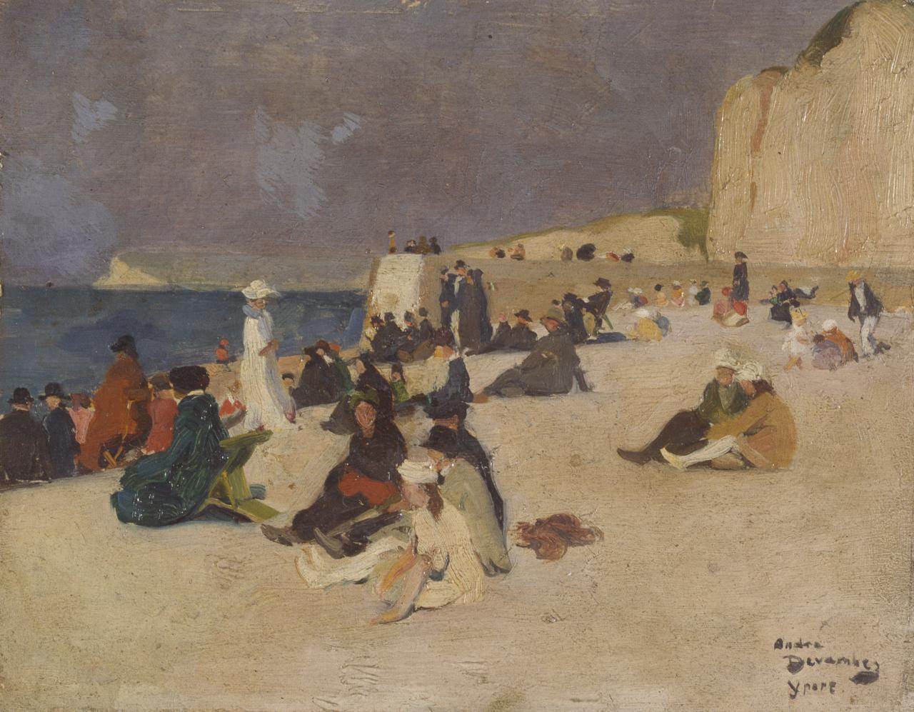 Sketch at the seaside, Yport