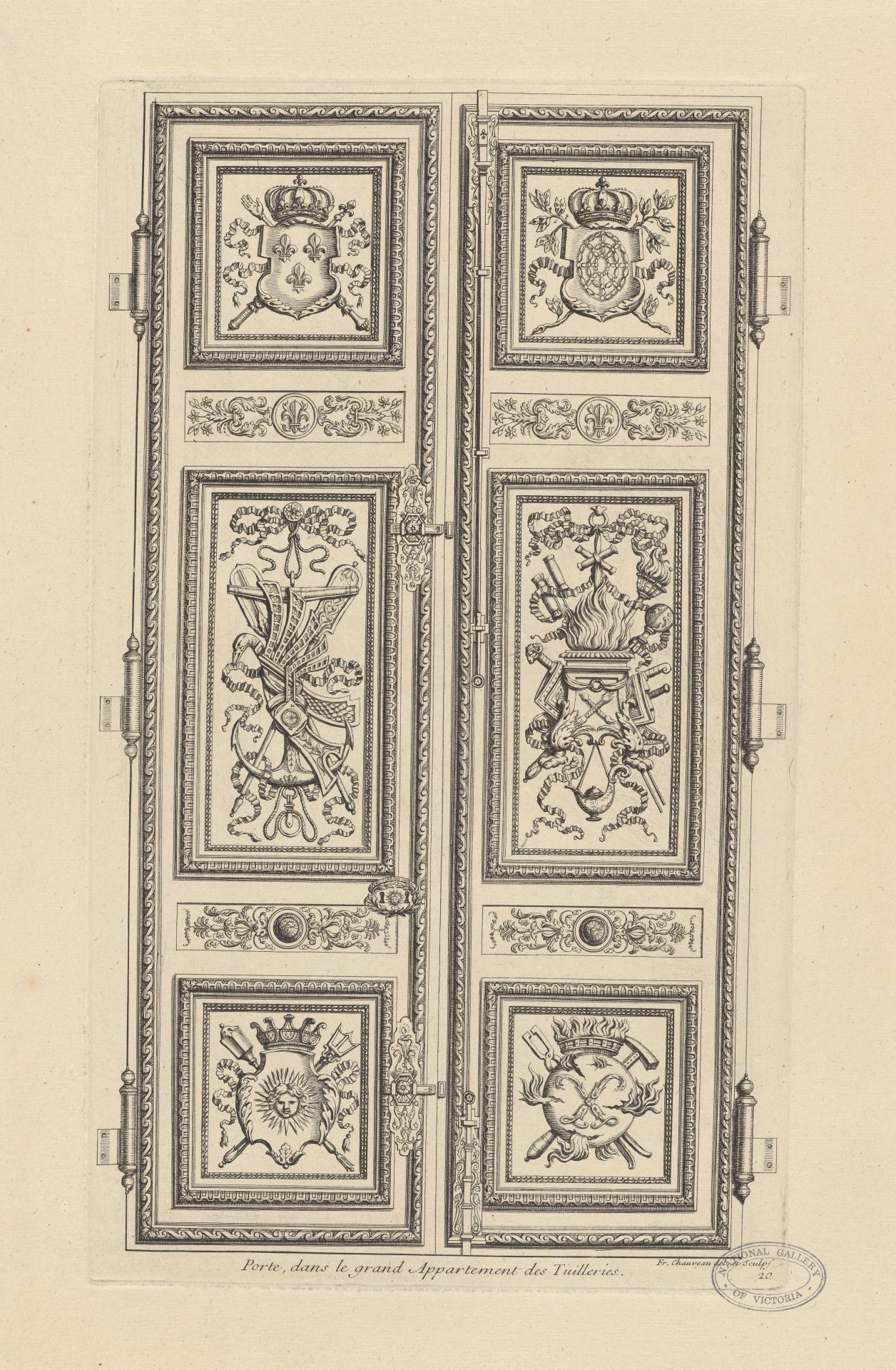 Door, in the Grand Apartment of Tuileries Palace