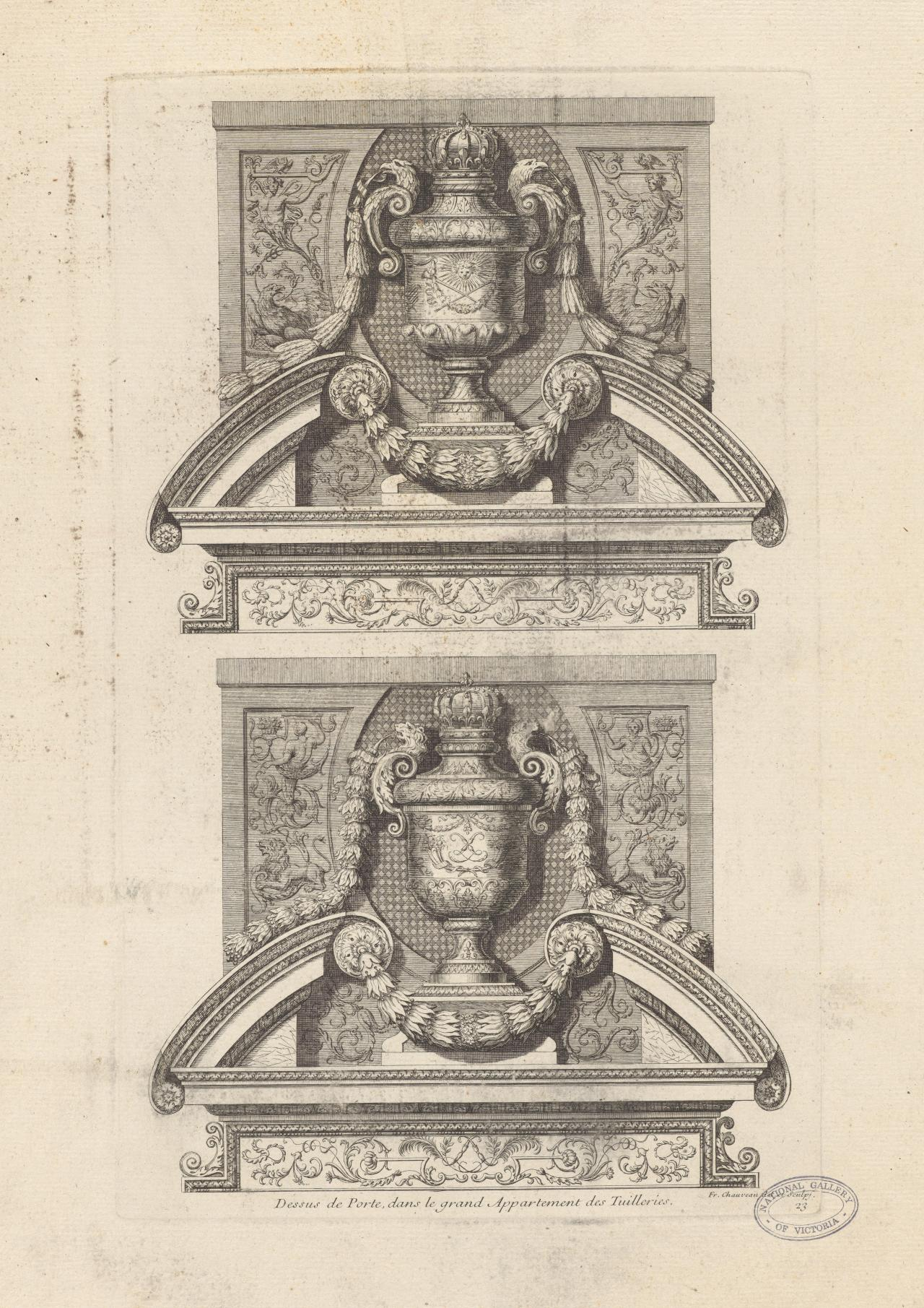 Door lintels, in the Grand Apartment of Tuileries Palace