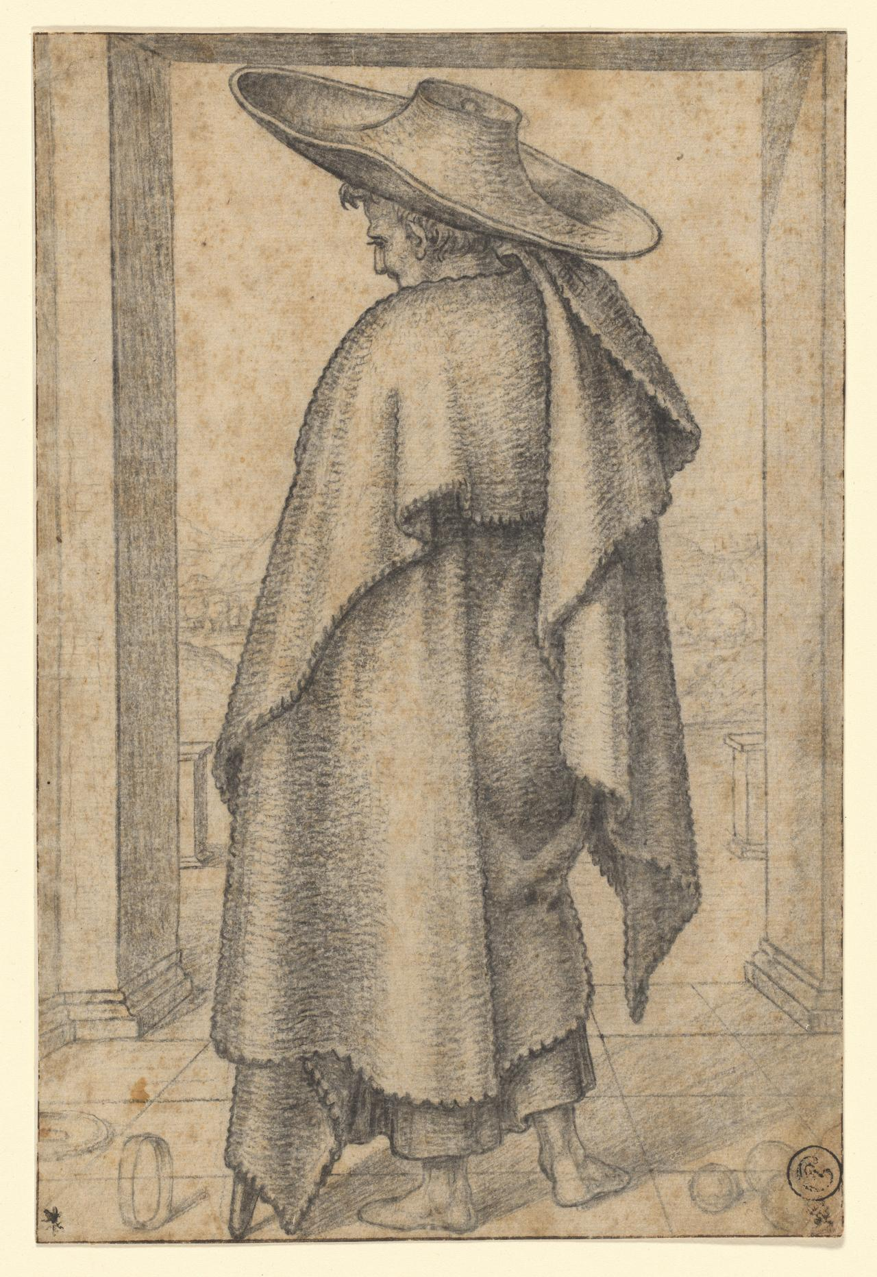 Man in a large hat