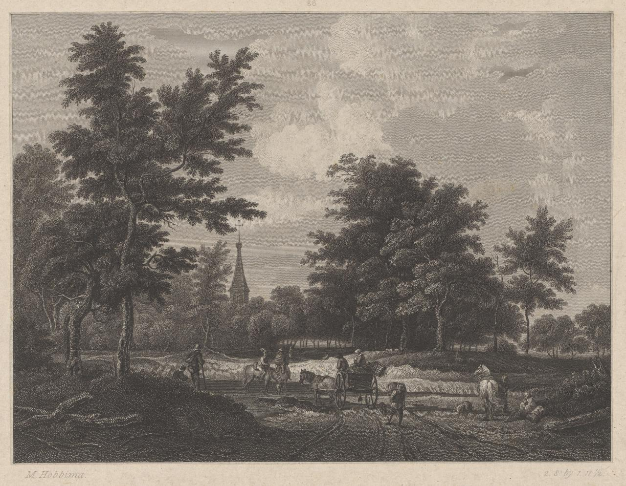 A landscape and figures (The travellers)