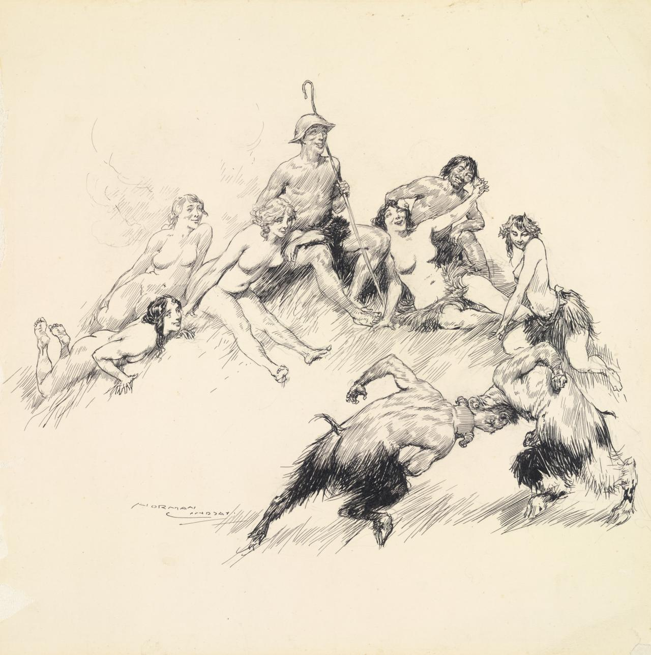 Satyrs fighting
