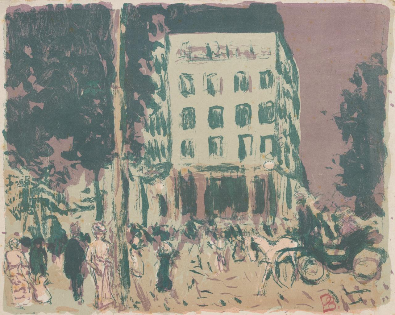 Street scene les boulevards 1900 published in das mappenwerk der insel insel verlag leipzig 1900 pierre bonnard