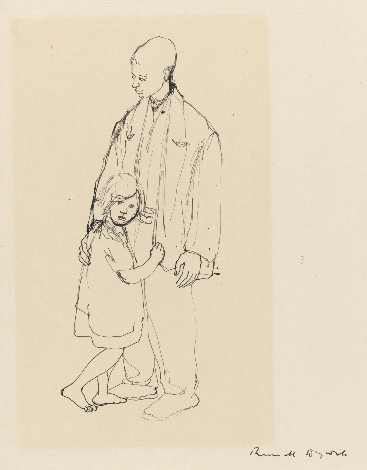 Study of a boy and child