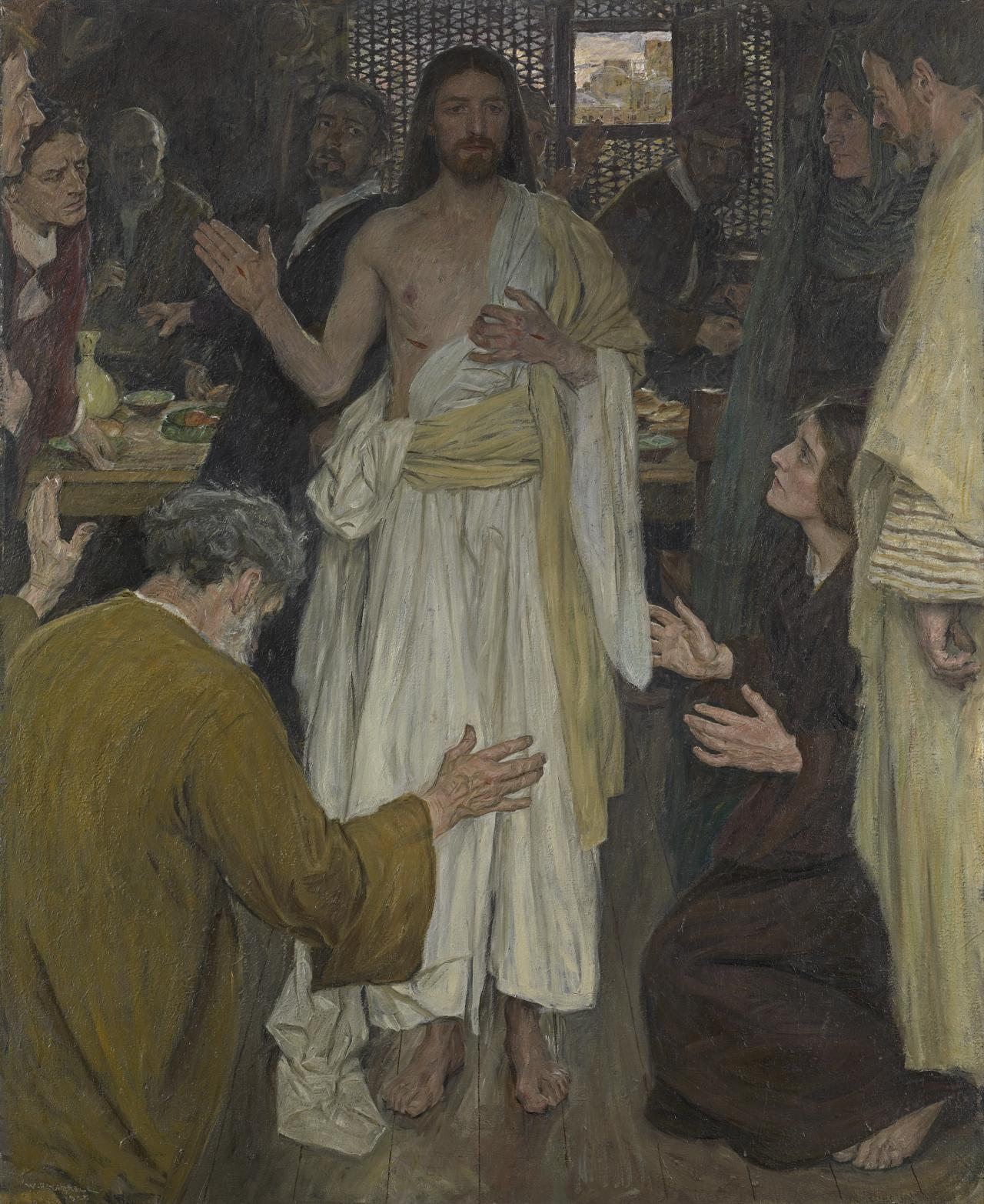Christ appears to his disciples