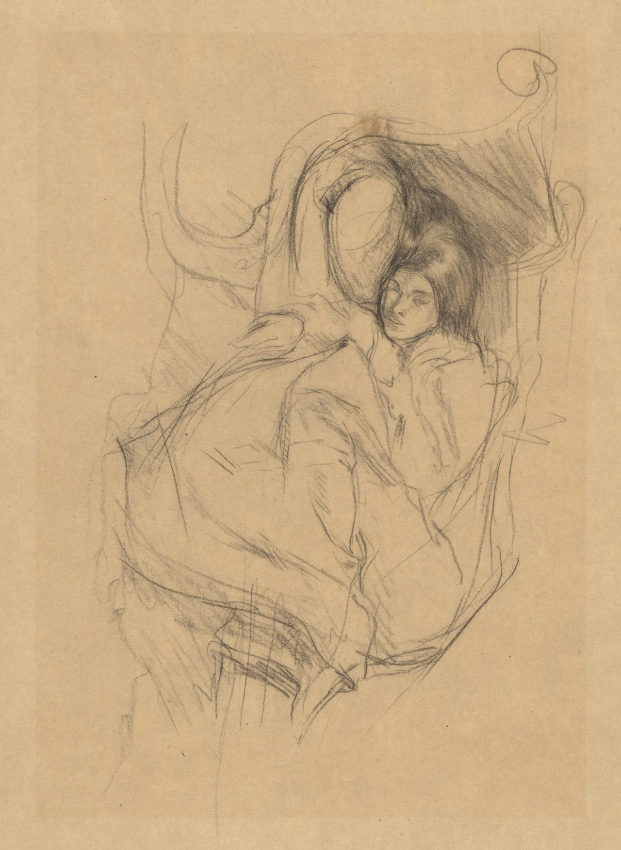 Reclining figure of a girl