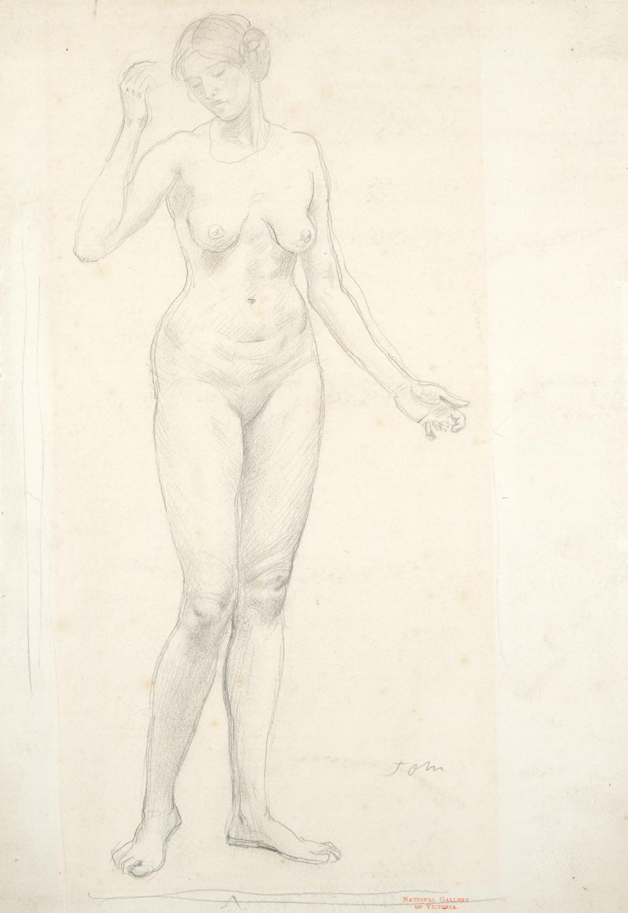 Figure of a standing girl
