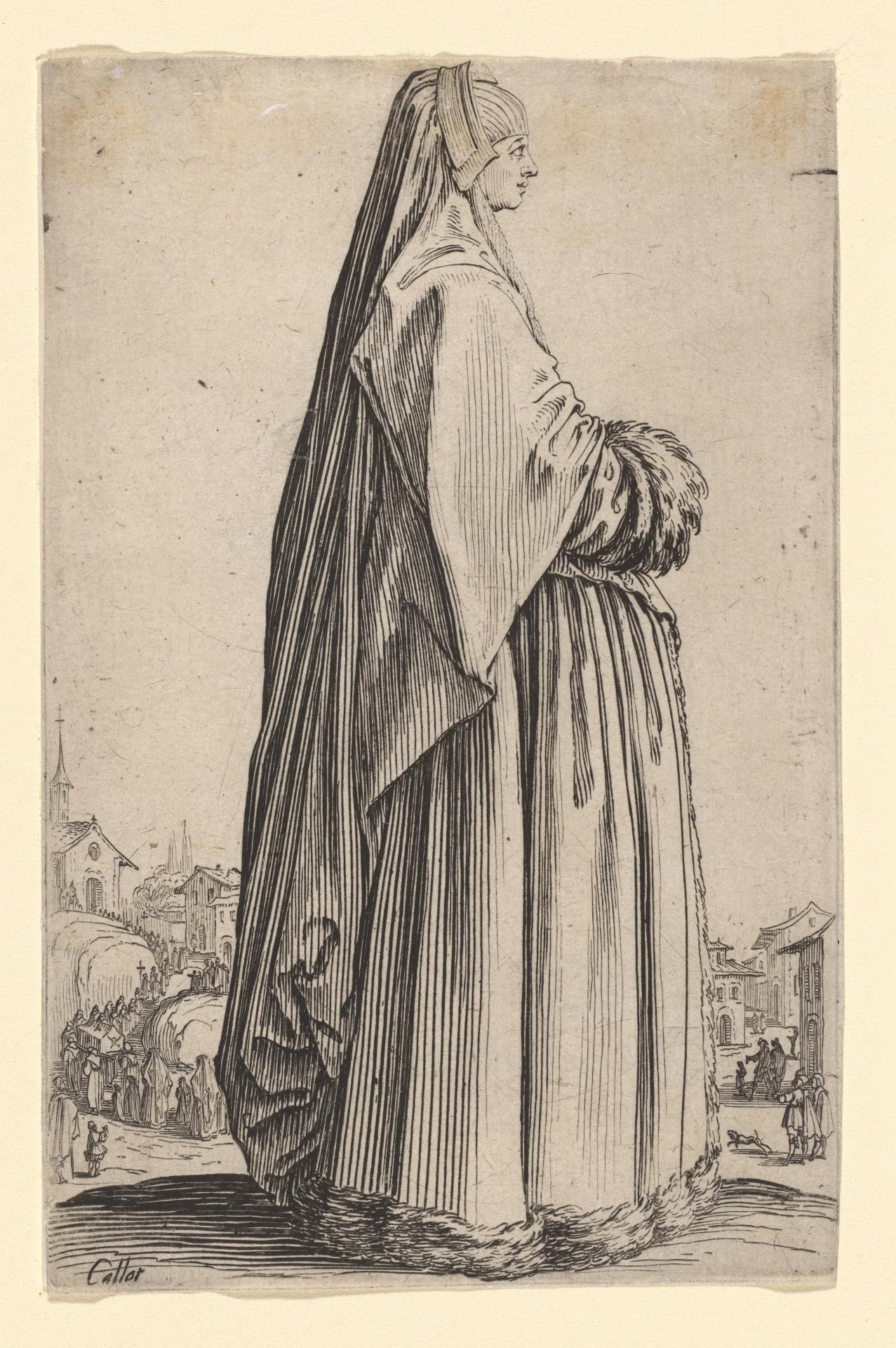 Lady in heavy mourning