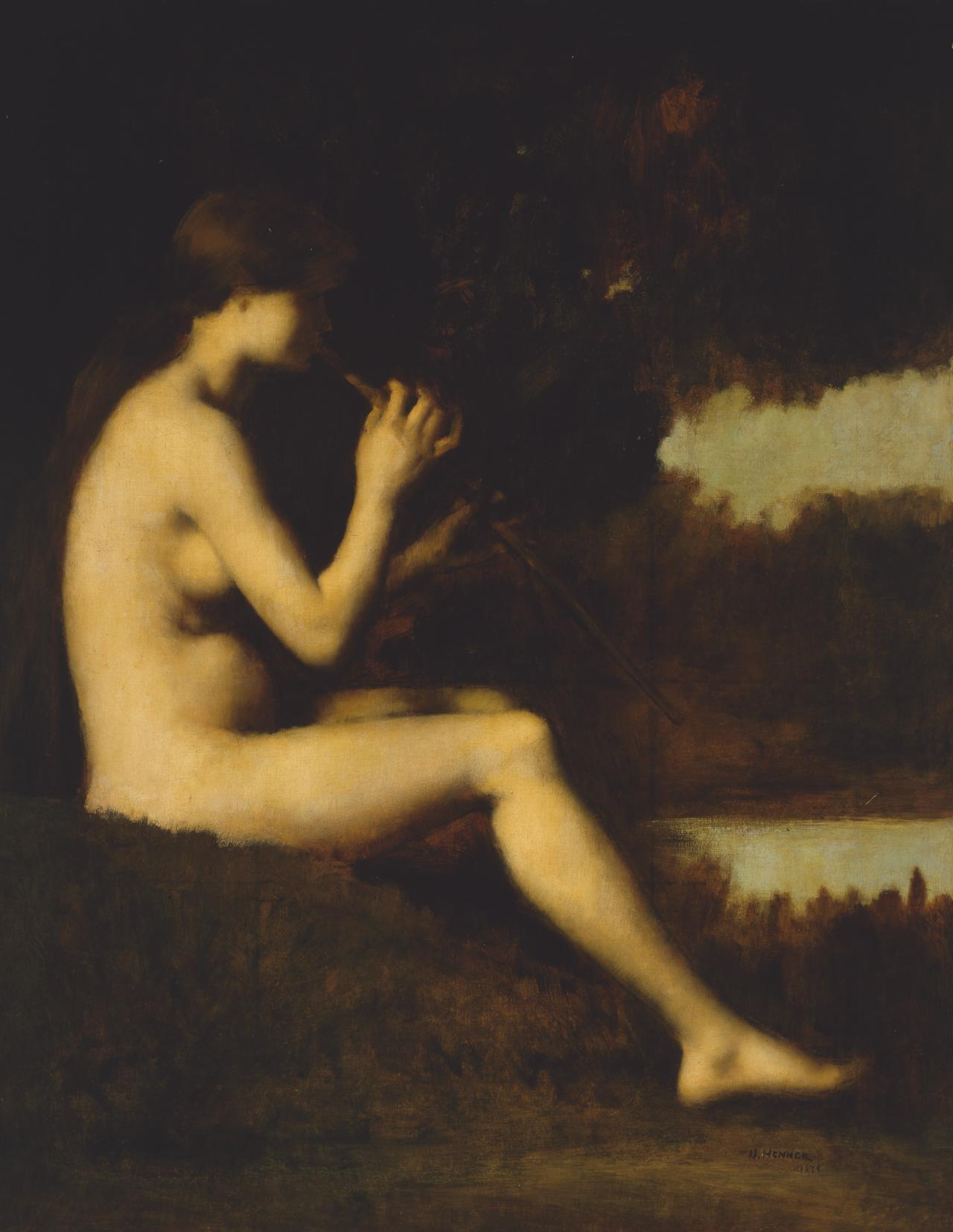Idyll - Woman with a flute