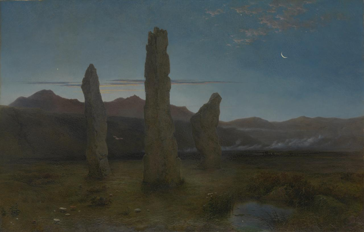 Druidical monuments at dawn in the Isle of Arran