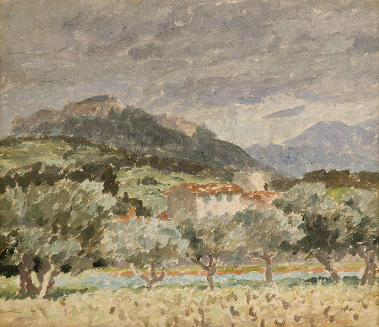 Sketch for Farm house and olive trees, near Cassis