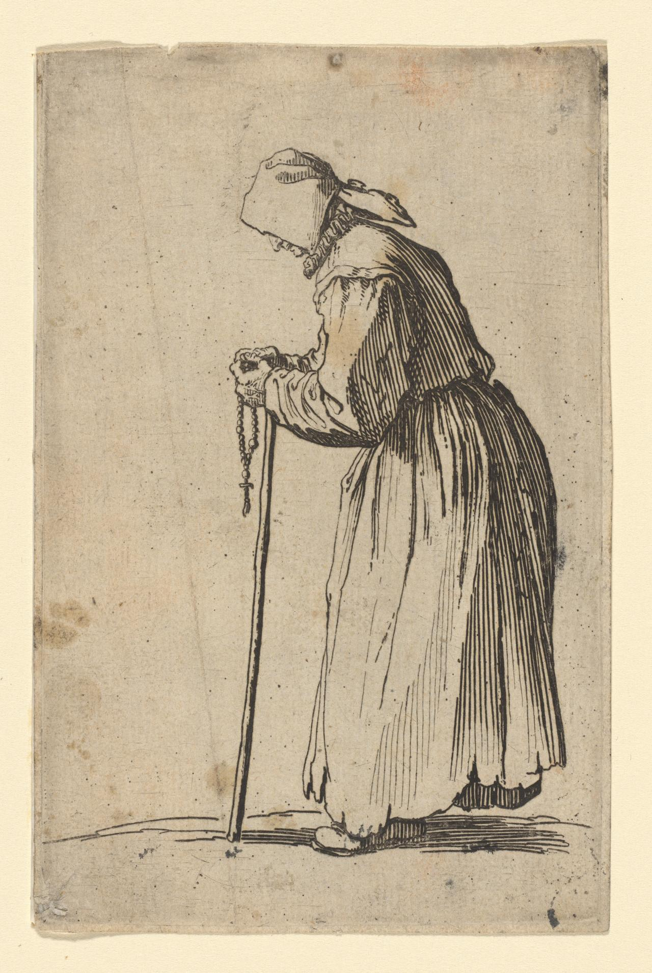 The Beggar-woman with rosary