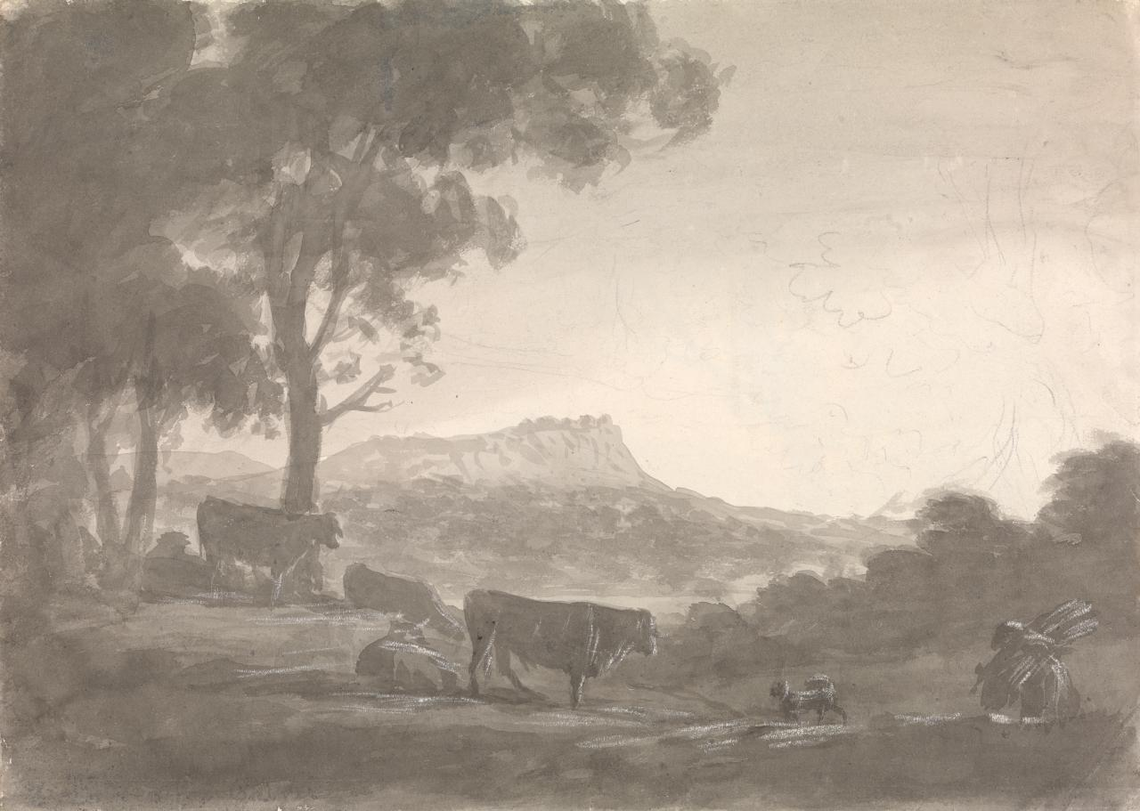 Landscape with cows (Breeston Castle near Nottingham)