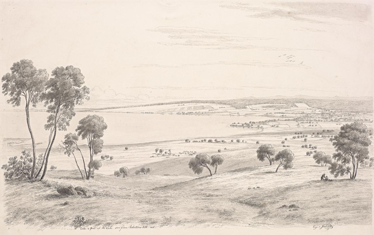 Colac and part of the lake seen from Robertson's Hill east