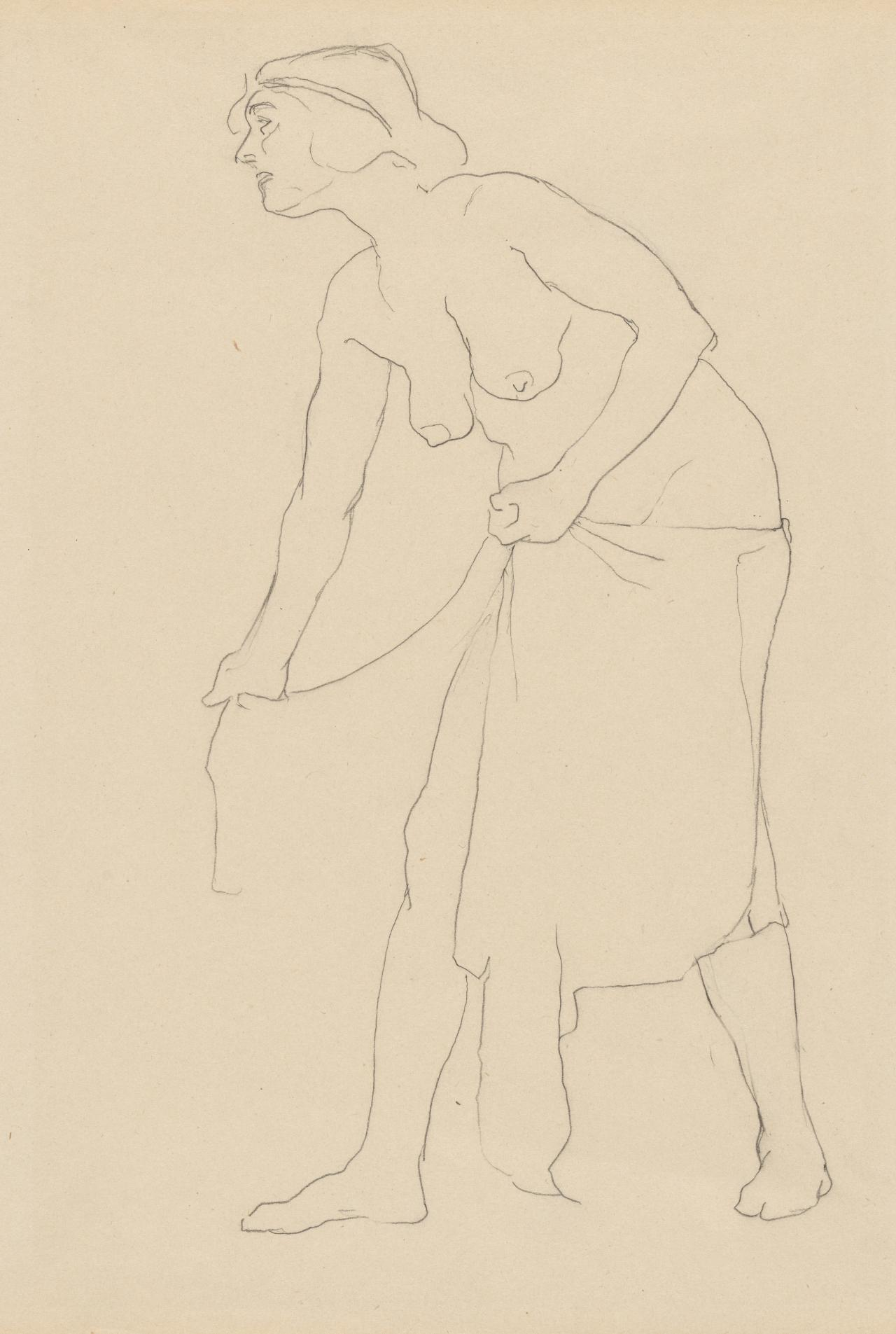 Study of woman with drapery