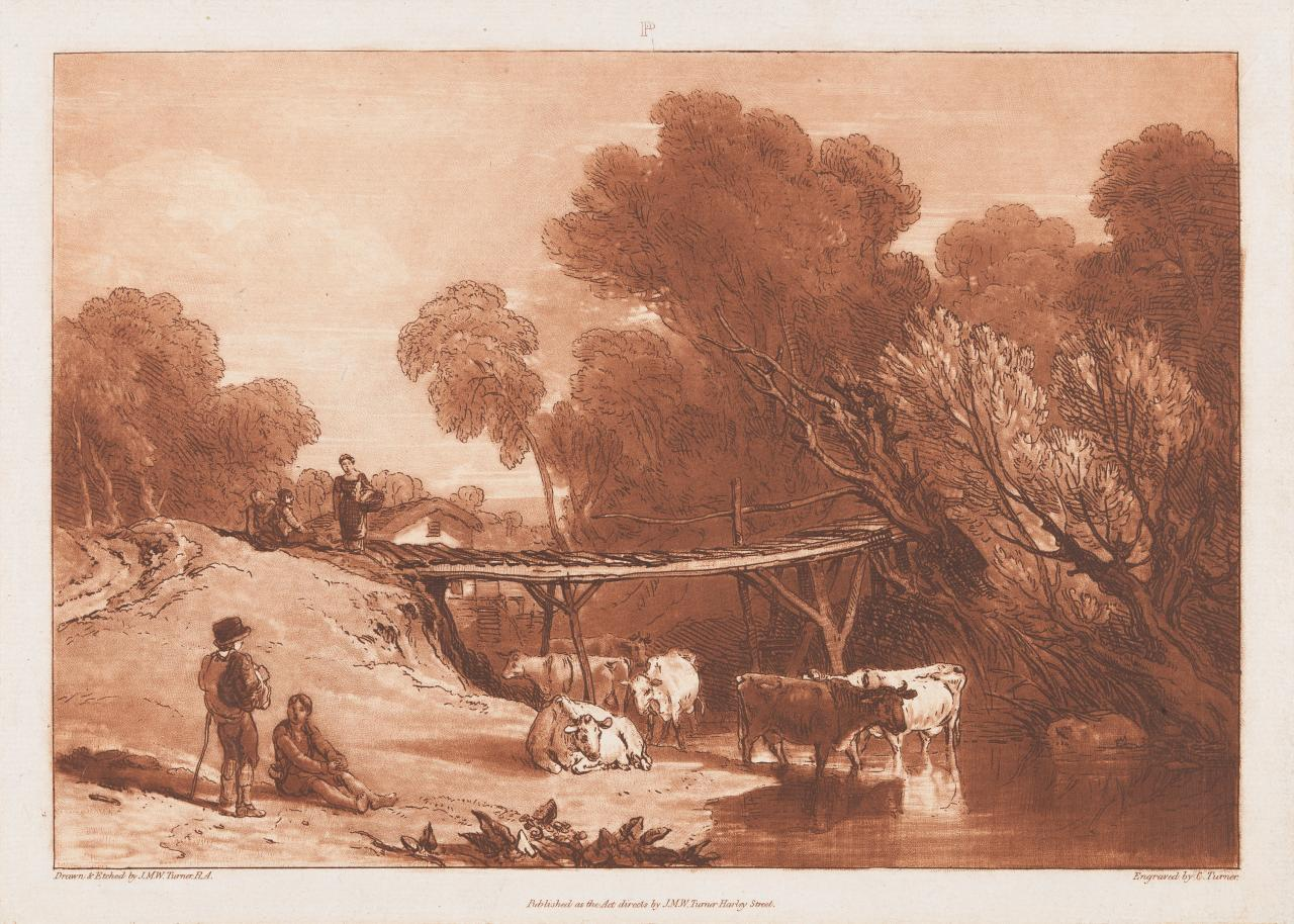 Bridge and cows