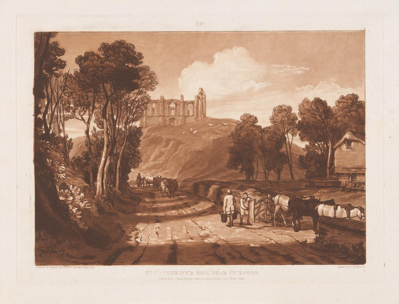 St.Catherine's Hill near Guildford (Liber Studiorum)