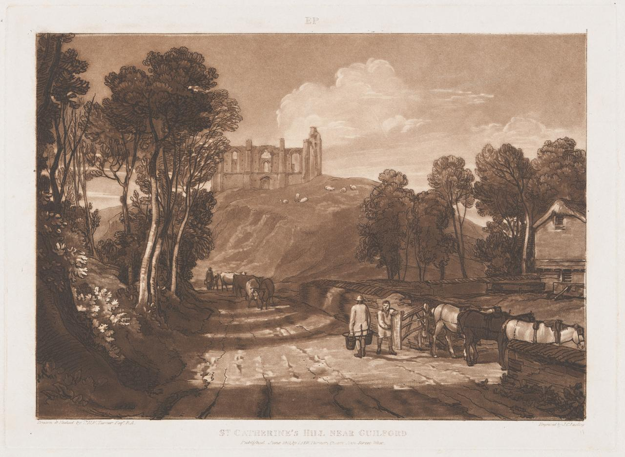 St Catherine's Hill near Guildford from Liber Studiorum, part VII, 1 June 1811