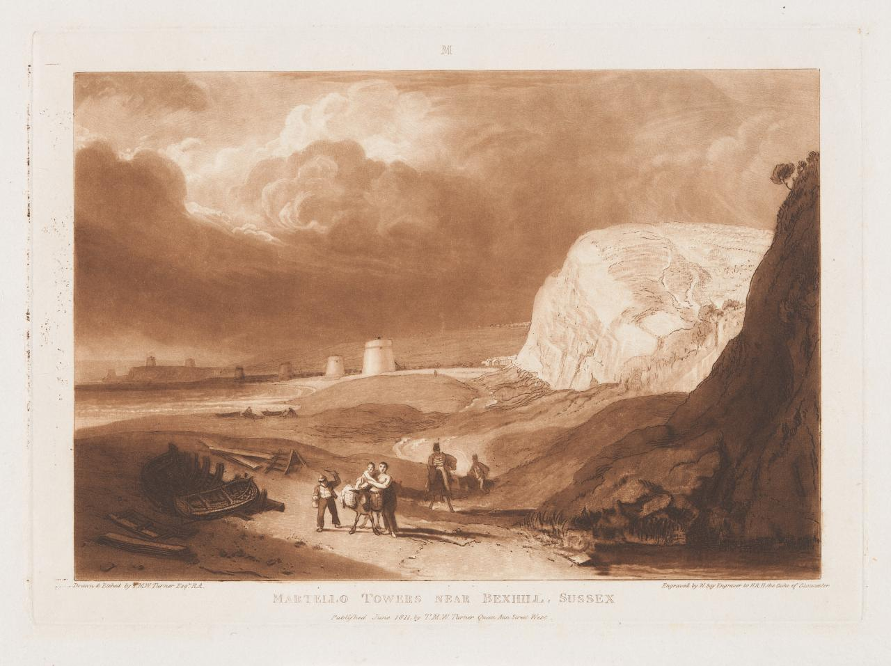 Martello Towers near Bexhill,Sussex (Liber Studiorum)