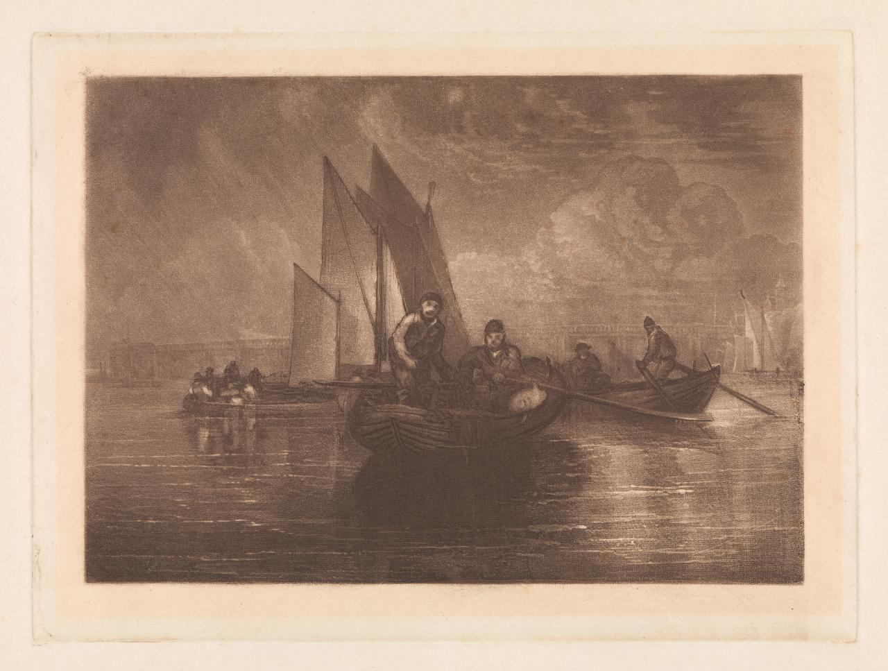 Flounder fishing,Battersea (Liber Studiorum)