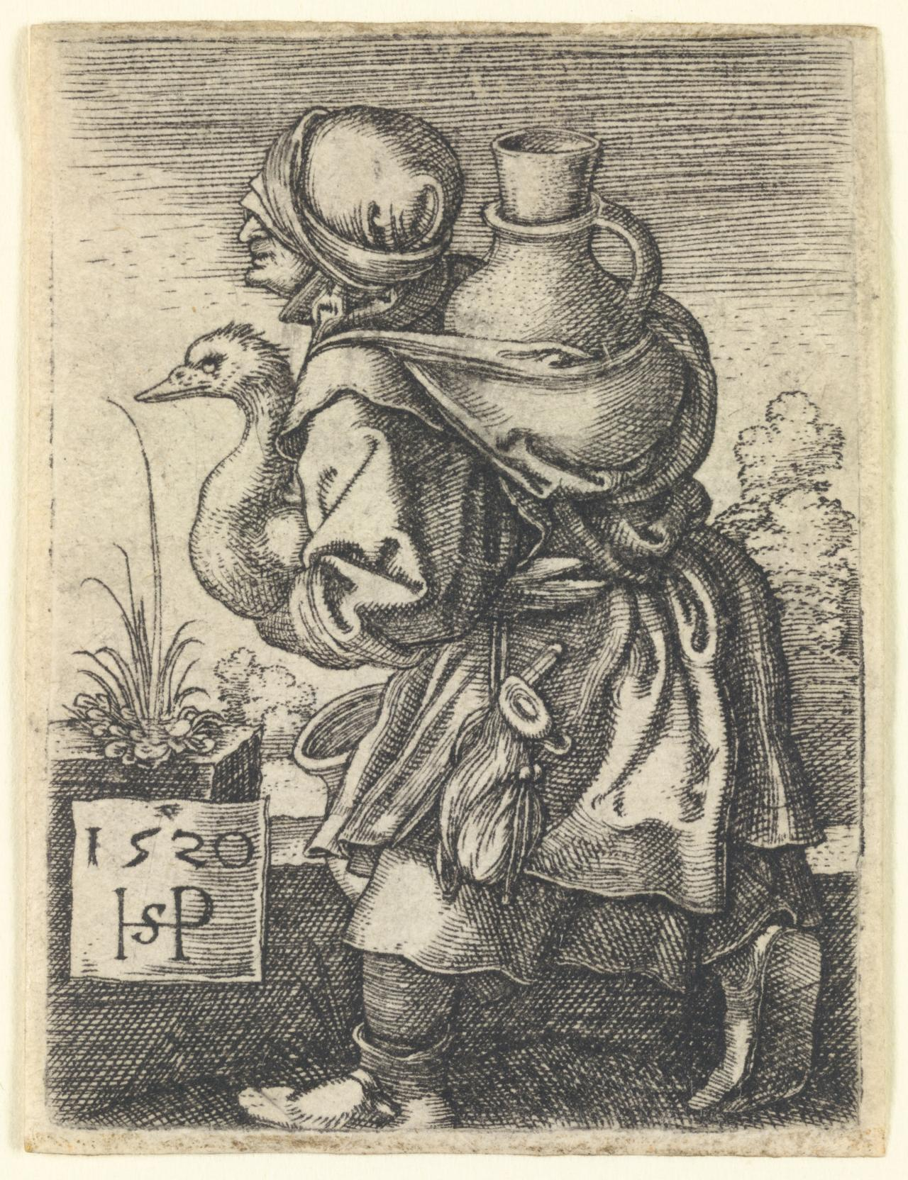 Peasant woman going to market