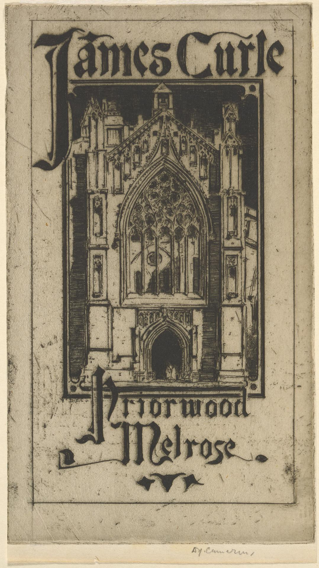 James Curle, bookplate