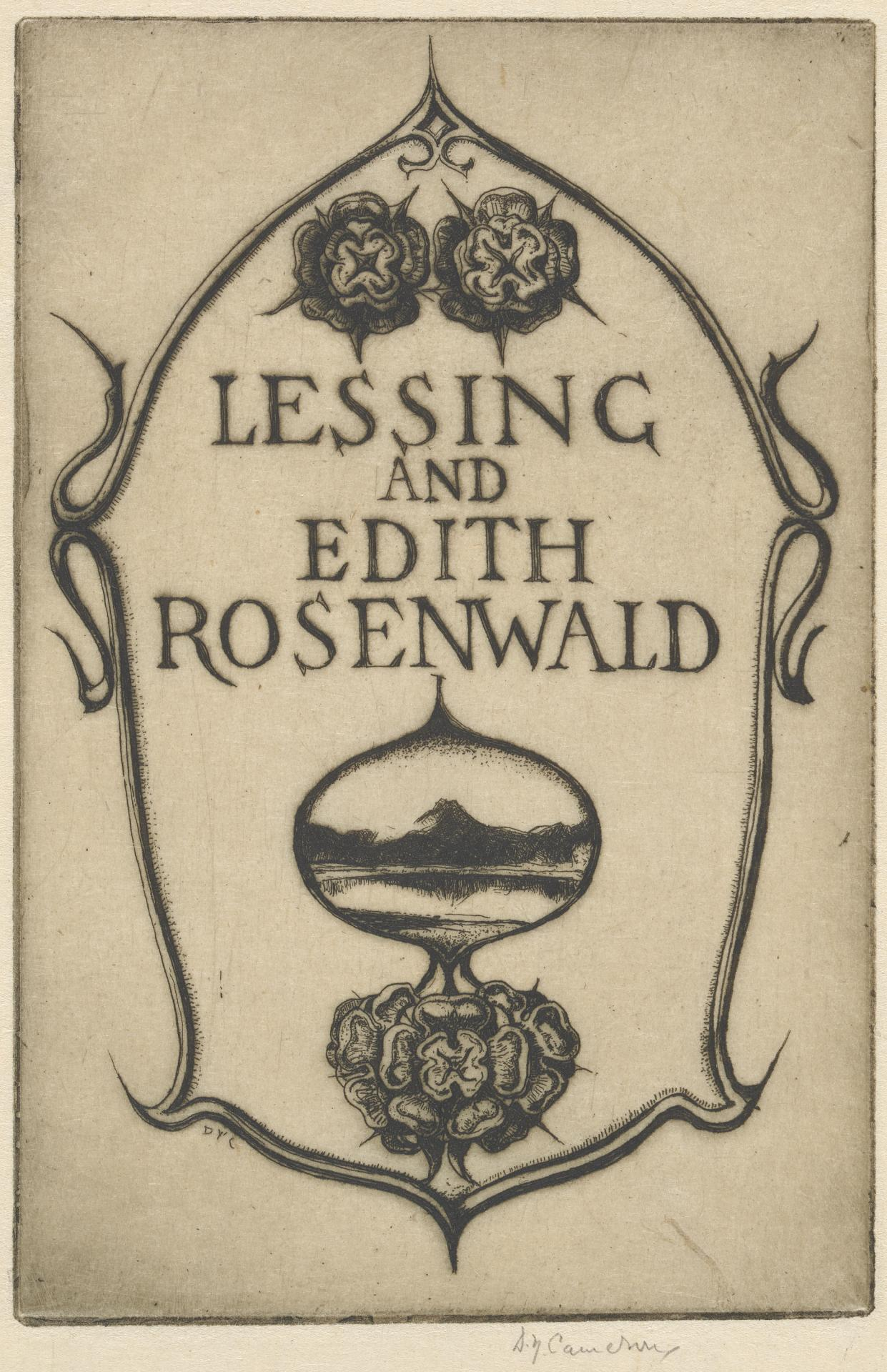 Lessing and Edith Rosenwald, bookplate