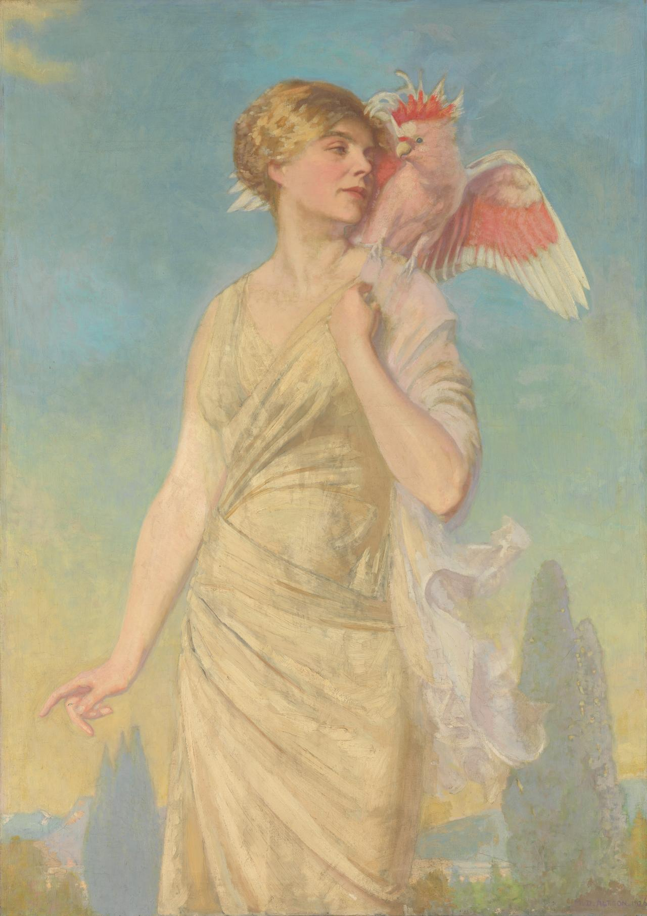 Winged words (Portrait of the artist's wife)