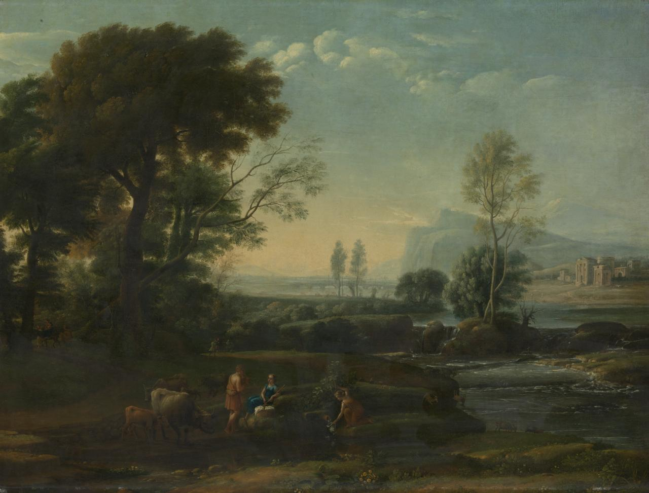 Landscape with piping shepherd and a flight to Egypt