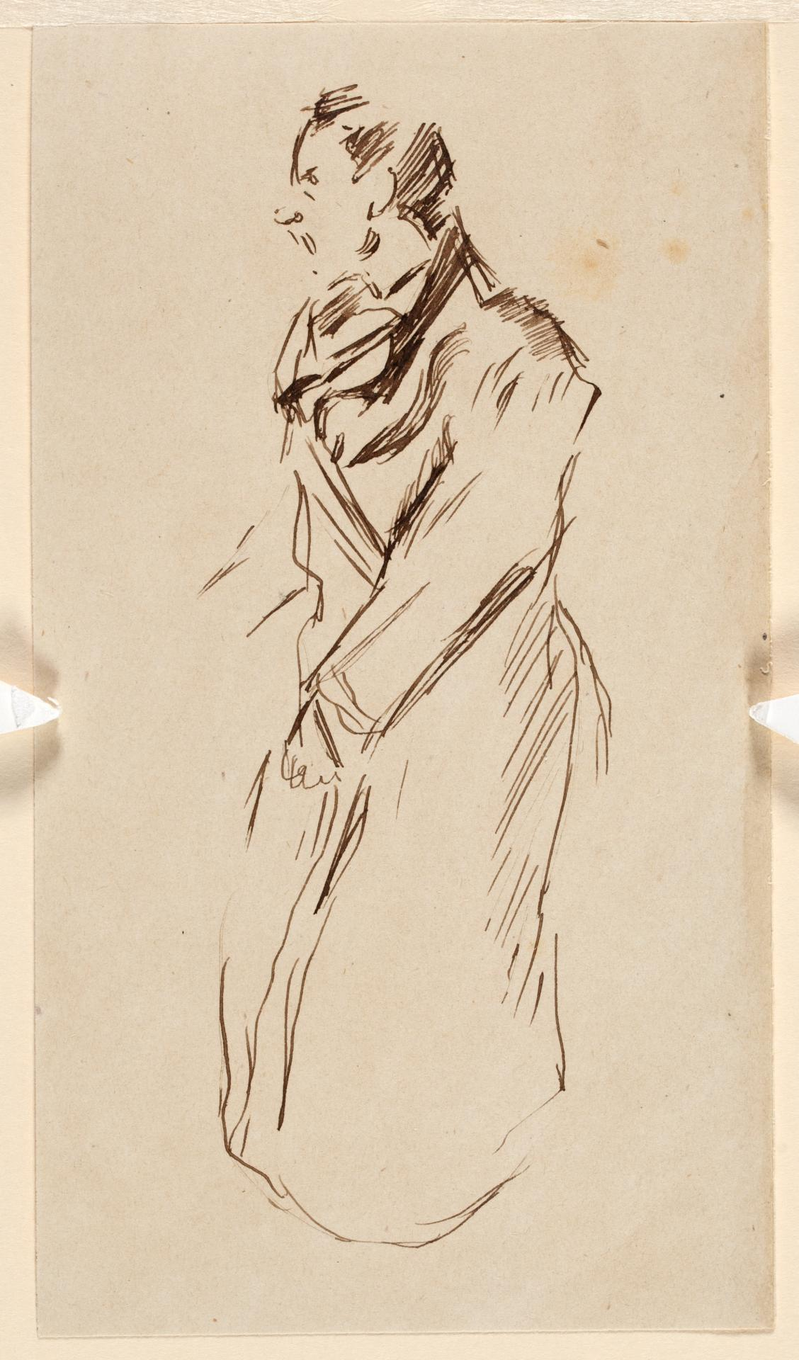 Study of a man in dressing gown with poker