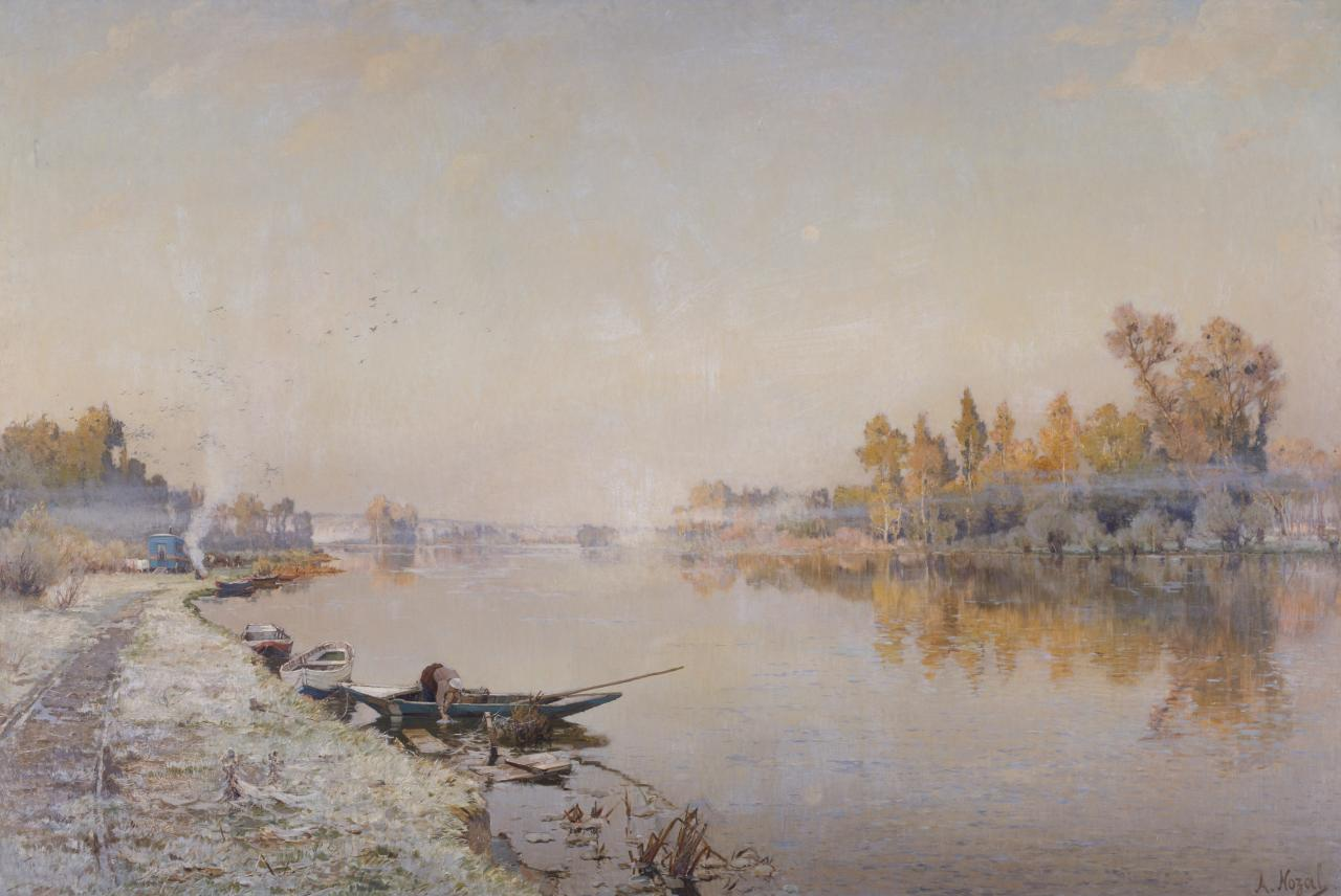 The Seine at St Pierre near Louviers: A morning in October