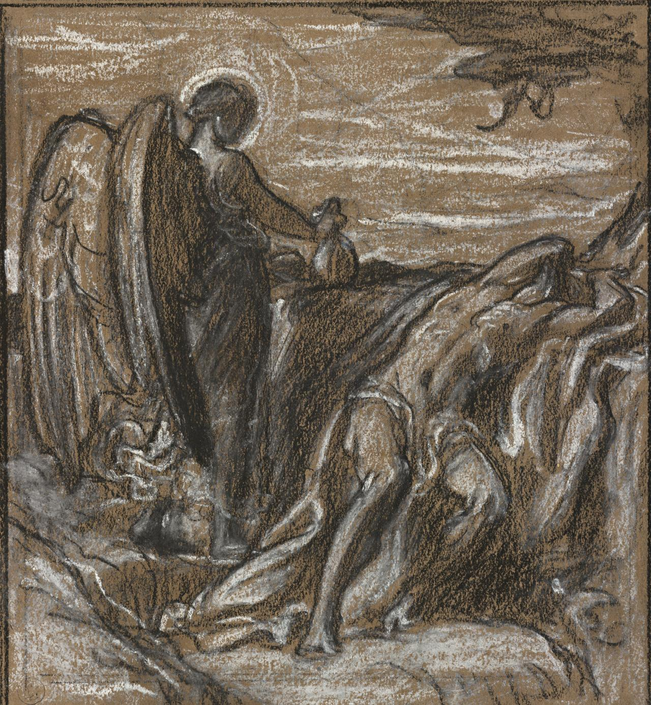 Study for Elijah in the wilderness