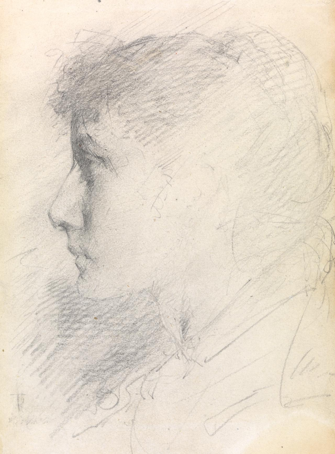 Study of a girl in profile