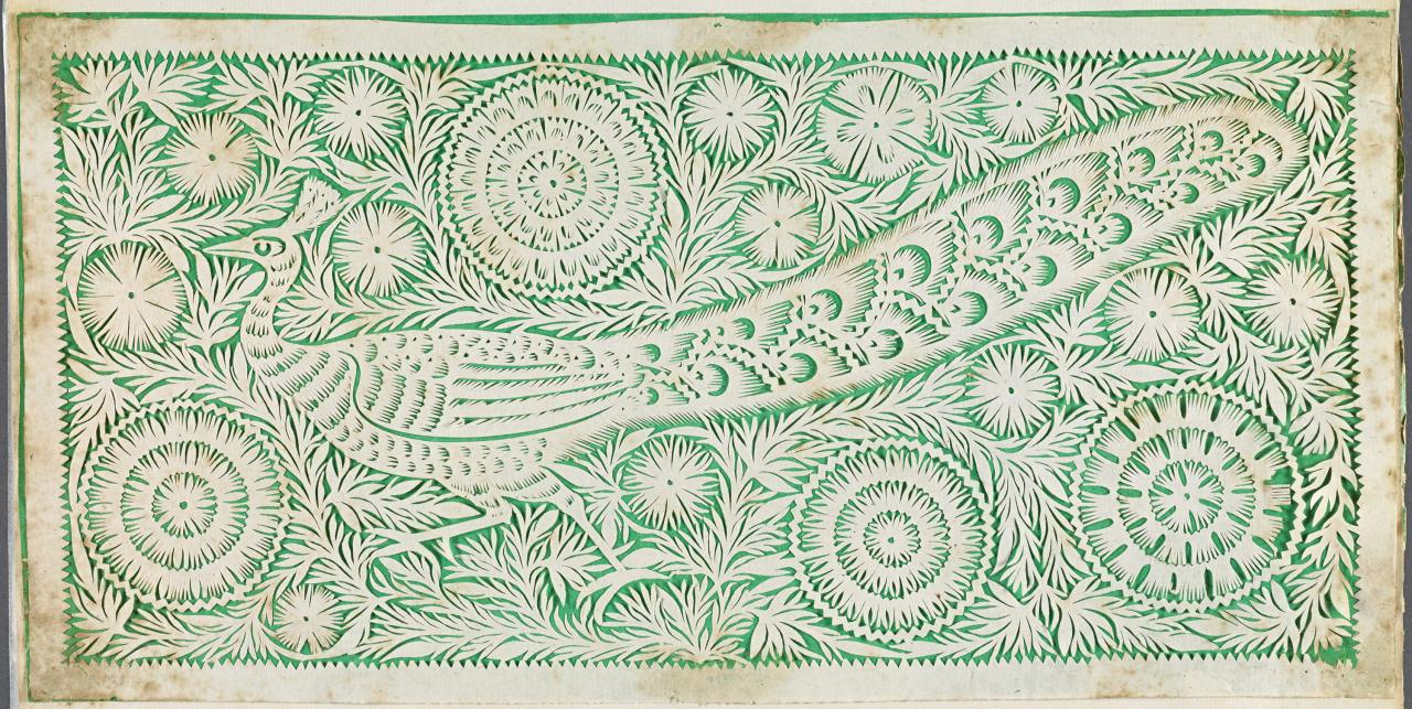 Portfolio of 13 Indian paper cuttings